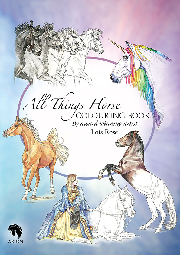All Things Horse colouring book cover